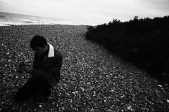 IMG_7164 (Scarlett J) Tags: black white bw 35mm filn film dark landscaoe landscape portrait beach clouds grain vintage old photography
