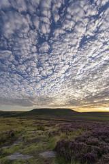 Higger Tor (l4ts) Tags: landscape derbyshire peakdistrict darkpeak hathersagemoor higgertor overowlertor goldenhour sunrise cloudscape clouds heather moorland