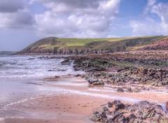 Manorbier beach 3 (Ian Gedge) Tags: uk britain wales cymru pembrokeshire manorbier beach coast coastline rocks sand sea