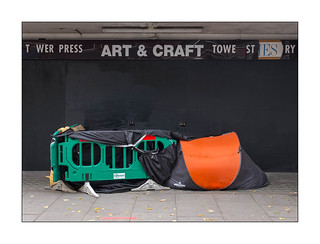 Homeless in London 2018, West London, England.