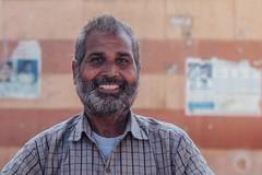 Smiling Man with Beard, Vrindavan India (AdamCohn) Tags: adamcohn hindu india vrindavan holi pilgrim pilgrimage portrait होली