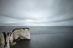 No Man's Land (.willwalker) Tags: chalk clifftop clouds 16stop coast dorset england landscape le longexposure rocks sea shore stacks