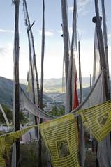 Thimphu Viewpoints Prayer Flags Over Thimphu (William J H Leonard) Tags: thimphu bhutan bhutanese southasia southasian summer sunny travel travelphotography travelling buddhist buddhism buddhisttemple prayer prayerflags prayers prayerflag mountain mountains