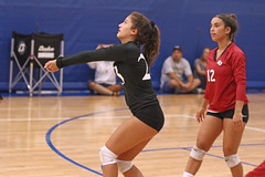 IMG_2680 (SJH Foto) Tags: girls high school volleyball mt mount olive varsity teens team libero dig bump burst mode