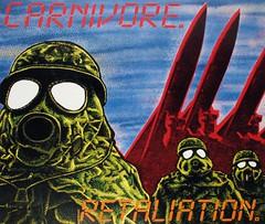 "CARNIVORE - RETALIATION Lyrics SLeeve 12"" VInyl LP (vinylmeister) Tags: vinylrecords albumcoverphotos gramophone lp heavymetal thrashmetal deathmetal blackmetal vinyl schallplatte disque album"