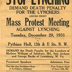 Stop lynching; demand death penalty: 1931 thumbnail
