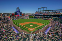 Coors Field - Colorado Rockies Franchise 25th Anniversary (1993-2018) (Joshua Mellin) Tags: coorsfield baseball stadium baseballstadium majorleaguebaseballstadium majorleaguebaseball coors colorado denvercolorado denver visitdenver visitcolorado writer photographer journalist joshuamellin joshmellin josh mellin photo picture pictures pic mlb season playoffs 2018 western westerndivision mountains travel tourism visit den col sports team teams major location tickets schedule times blogger photog ad advertisement panoramic view wide full lights mountain snow clean clear summer bright warm sunny americaspasttime pasttime past grass field pitch traveling spotify applemusic apple
