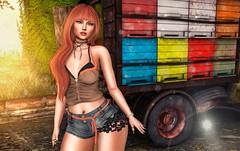 New Post ►633◄ VHW (Fadagitana Blindside (Virtual Hype Woman)) Tags: maitreya fabia adorsy thechapterfour cosmopolitan fashion blog sl secondlife women woman fashionblog avatar model hair virtualworld blogger 3d photo photography clothes new outfit bento meshbody mesh meshhead redheads top shorts jeans photoshop soul2soul