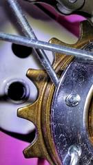 Wheel with teeth and dust :) (tomquah (busy period)) Tags: cogwheel macromondays tomquah metals bike