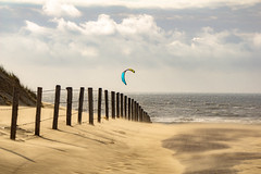 windy (Wöwwesch) Tags: beach coast summer clouds windy kite surfing sand dunes waves water