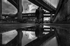 After the Rain - Dopo la pioggia (Stefano Avolio) Tags: roma rome tangenzialeest bw blackwhite blackandwhite monocromo pioggia rain bn biancoenero bianconero stefanoavolio savolio riflesso reflection