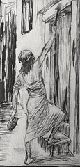 120/402 The sign on the door (Exodus 12:22) drawing by James Tissot at the John Rylands Library file created by Phillip Medhurst (Phillip Medhurst) Tags: tissot jamestissot bookofexodus passover pesach pascha johnrylandslibrary phillipmedhurst