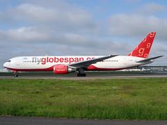 G-CDPT Boeing 767 Air Austral (@Eurospot) Tags: gcdpt boeing 767 767300 airaustral flyglobespan toulouse blagnac