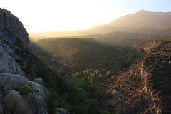 Heat of day flees the coming night (photography by Derek G) Tags: rocks landscape sunrays evening sunset vista view scenic mountains hills rolling warm beams rays canyon lospadres nationalforest rosevalley ojai piedrablanca wilderness backpacking hiking camping wildernesswandering