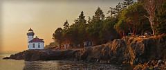 LIME KILN LIGHTHOUSE (Wolf Creek Carl) Tags: sanjuanisland washington lighthouse limekilnpoint limekilnlighthouse landscape dusk panorama