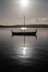 Shetland 11 (KH748) Tags: lerwick scotland shetland boat clouds coast harbour island sea shadows sunrise water