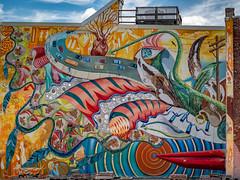 Peace Through Imagination (Leaning Ladder) Tags: philadelphia pa pennsylvania graffiti streetart street mural colors leaningladder canon 7d 7dmkii