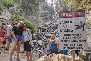 Donut Falls Hike and Warning