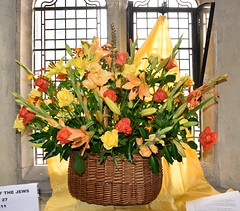 Jesus The King of the Jews 0910 (blackthorne57) Tags: bovinger bobbingworth essex stgermainschurch church athome churchfete floraldisplay bankholidaymonday jesusthekingofthejews flowers flowerarrangement