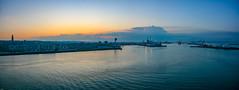 ... in the morning light ... (wolli s) Tags: fr france habour lehavre port départementseinemaritime frankreich panorama stitched nikon d7100 aida kreuzfahrt
