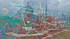 BaikalReise 75e (wos---art) Tags: bildschichtung russland transsibirische eisenbahn historisch ausgemustert stillgelegt schrottplatz ausgestellt präsentiert maschinengeschichte