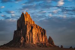 Sunrise at Shiprock (gerritebert) Tags: shiprock newmexico nm usa sunrise