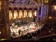 Vancouver Orpheum Stage Van18e06 LG (CanadaGood) Tags: canada bc britishcolumbia vancouver downtown people person concert music symphony orpheumtheatre theatre architecture canadagood 2018 thisdecade color colour cameraphone