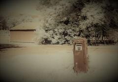 Quiet Day at the Pump (Neal3K) Tags: georgia buckheadga infraredcamera kolarivisionmodifiedcamera 590nmir abandoned