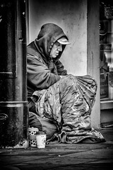 Life on a Salisbury Street (Andy J Newman) Tags: motorbike poverty portrait nikon street d500 rough motorshow salisbury urban candid wiltshire vagrant man homeless begging motorsport blackandwhite beggar old