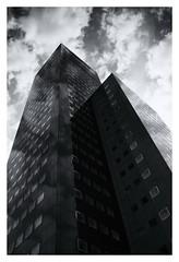 Brother And Sister? (RadarO´Reilly) Tags: leeuwarden netherlands gebäude building architektur architecture himmel sky wolken clouds sw schwarzweis bw blackwhite blanconegro monochrome noiretblanc zwartwit