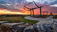 Griesbach Lookout (WherezJeff) Tags: edm edmonton griesbach sunset yeg alberta canada sun pillar d850