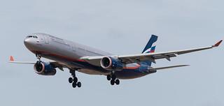 VP-BDD Aeroflot Airbus A330-300 landing at Amsterdam Schiphol July 2018 (1 of 2) (1 of 1)