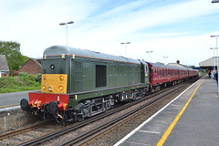 20007 & 4TC (Will Swain) Tags: wareham during swanage railway diesel gala 11th may 2018 station williamsdigitalcamerapics101 train trains rail railways transport travel uk britain vehicle vehicles england english 20007 class 20 007 4tc