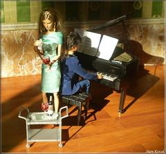 A-Z Challenge 2.0: U - Undercover (Mary (Mária)) Tags: barbie ken jamesbond undercover bond fashion gun crimi detective murder piano music poison love dollphotography doll dollcollector interior diorama wine agent spy pianist handmade marykorcek photography photo story challenge az