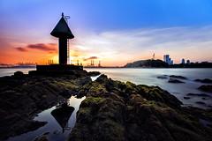 TWB_7621 (xxtreme942) Tags: singapore sea sunset rock beacon longexposure d800 sky outdoor seascape