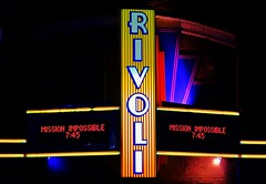 Rivoli Theatre (Tim @ Photovisions) Tags: show marquee sign nebraska theater neon night rivoli