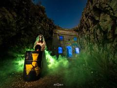 La novia del uranio (PacoQT) Tags: nightscape urbex abandoned abandonedspain noche night noctography noctografía lightpainting lpwalliance lightart nuclear radioactive toxic bride novia