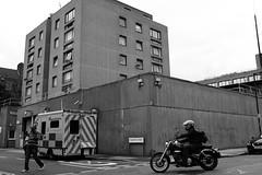 frazier street (Paul Steptoe Riley) Tags: uk london south southwark lambeth se1 motorcycle motorbike monochrome blackandwhite