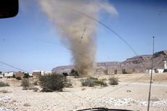 Dust devil (motohakone) Tags: jemen yemen arabia arabien dia slide digitalisiert digitized 1992 westasien westernasia ٱلْيَمَن alyaman