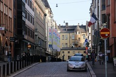 Yjronkatu (quiggyt4) Tags: helsinki finland scandinavia tram streetscape streets road tracks kamppi chapel church abstract balloons stair door plaza publicspace cube cubism busstation bikeshare yellow biking bicycle docks sculpture mall shopping finnish shoppingmall orange computer architecture pink vodka cranberries lapland occupy ows occupywallstreet europe ronpaul trump donaldtrump