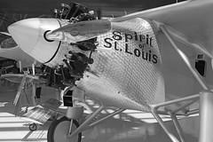 You've Got the Spirit (PDX Bailey) Tags: spirit saint st louis plane airplane aviation black white museum mcminnville oregon wheel propeller prop american history americana atlantic ocean flight ryan