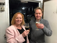 Sampling some local beer at Salamander Brewery, with co-founder Dan Gent