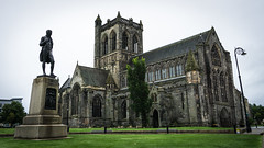 Paisley Abbey 2018-2 (henderson231280) Tags: paisley abbey cathedral church stone architecture old ancient religion gargoyle river scotland