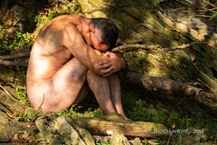 Communion avec la nature (landrebeatrice) Tags: homme nu nudité portrait nature outdoor
