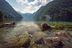 Sound Of Silence (pics-n-more) Tags: koenigssee berchtesgaden bayern bavaria germany deutschland lake see felsen rock water wasser reflection reflektion light licht clouds wolken eos700d canon longtimeexposure langzeitbelichtung landscape landschaft