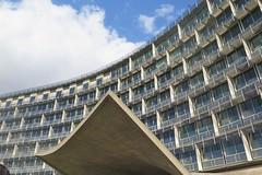 UNESCO Headquarters in Paris 7th (Sokleine) Tags: unesco architecture building bâtiment 1958 béton concrete fifties années50 modern paris 75007 france heritage patrimoine