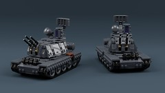 Transnistrian SPAT-66 (ABS doohickies) Tags: lego ldd render transnistria spaag spat66 tank military