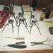 Antique barber's tools