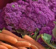 Veggies (Scott 97006) Tags: cauliflower carrots purple vegetable food prduce pinkish