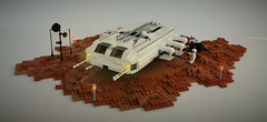 HORN II Shuttle on Mars (adde51) Tags: adde51 lego moc shuttle mars scifi space rocket marsian cb mars2050 spaceship austronaut